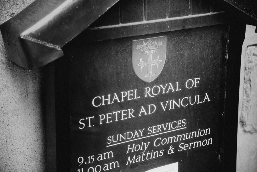 Chapel Royal sign at the tower of London