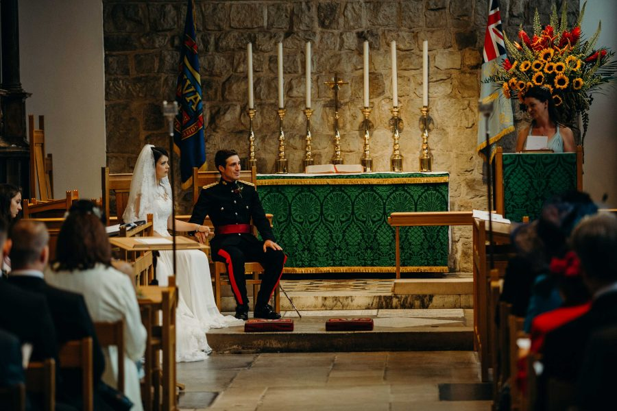 wedding vows at the Chapel Royal at the Tower of London