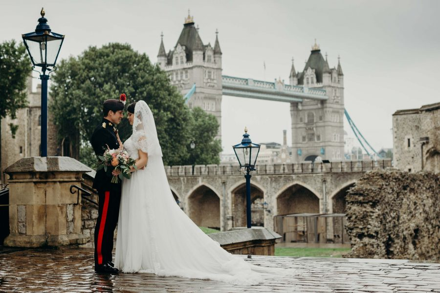 Wedding Portrait at Tower Bridge