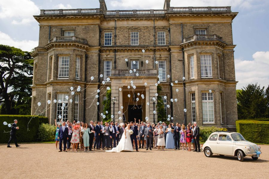 Wedding Group Portrait outside Hedsor House