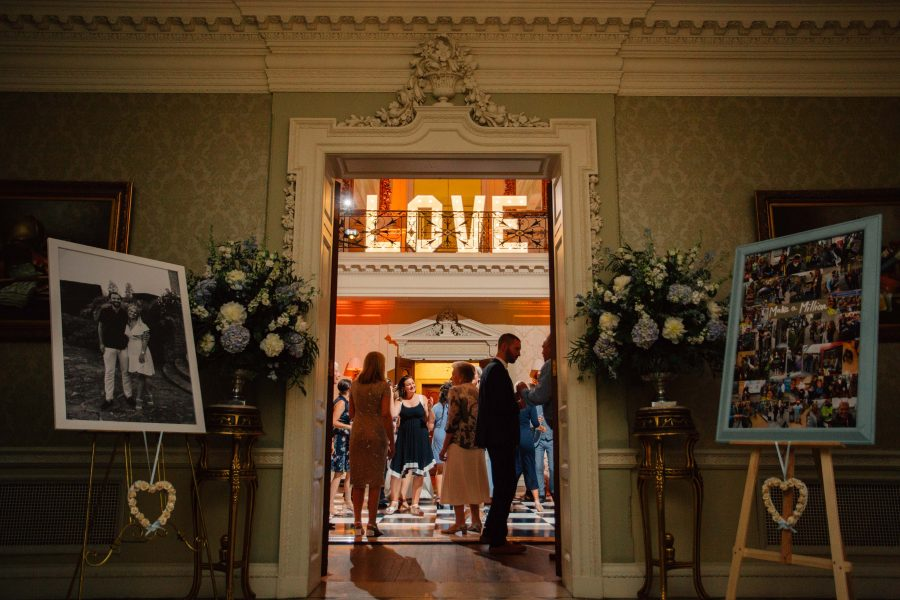 Love sign in lights at Hedsor