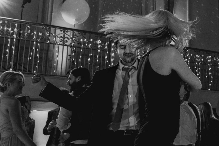 blurred wedding dancing