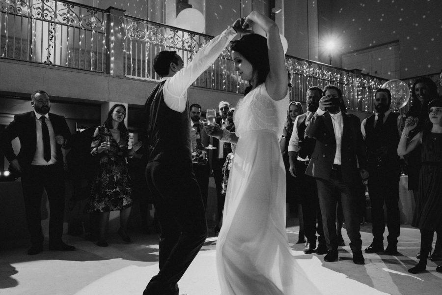 bride being twirled