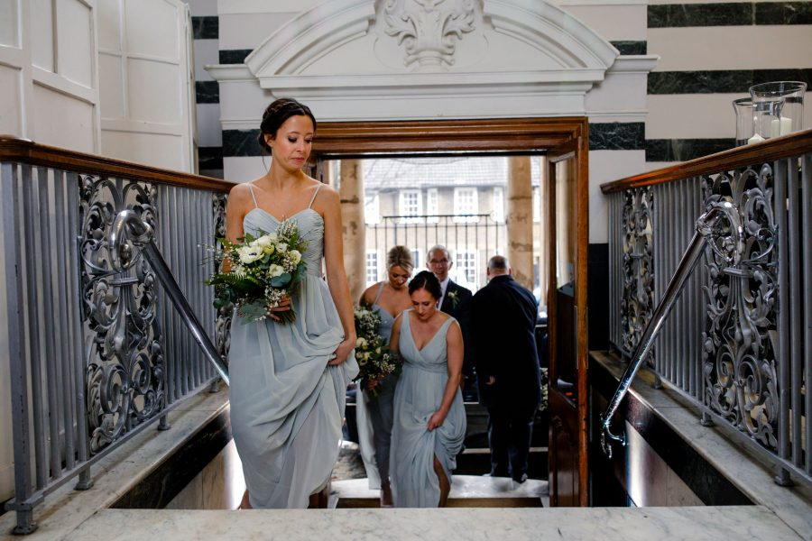 bridesmaids arriving at sunbeam studios wedding