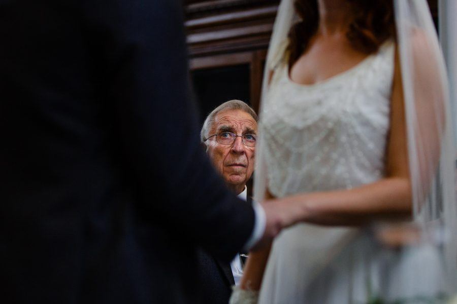 father of the bride watching vows