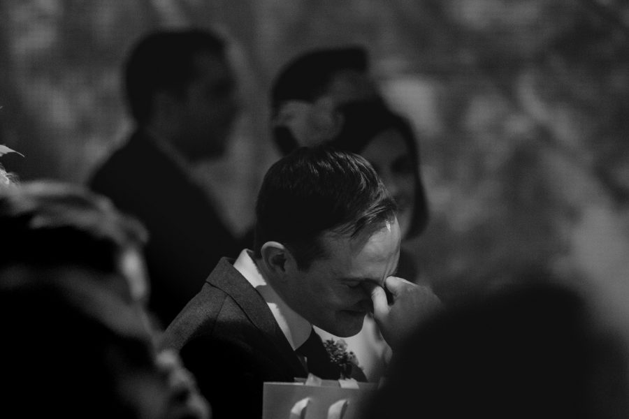 groom embarrassed at speech