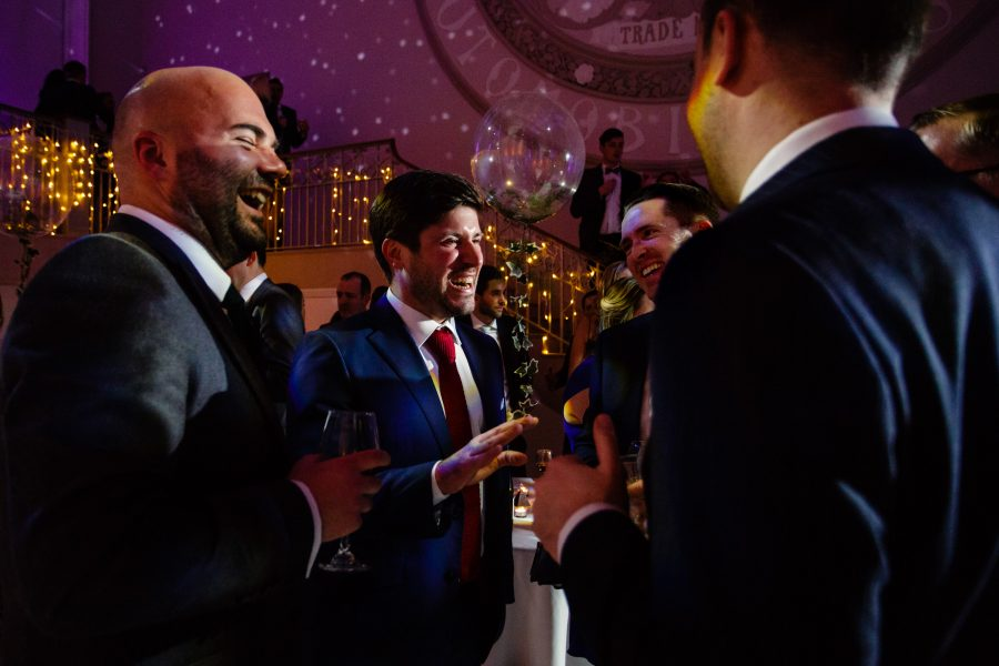 groomsmen chatting