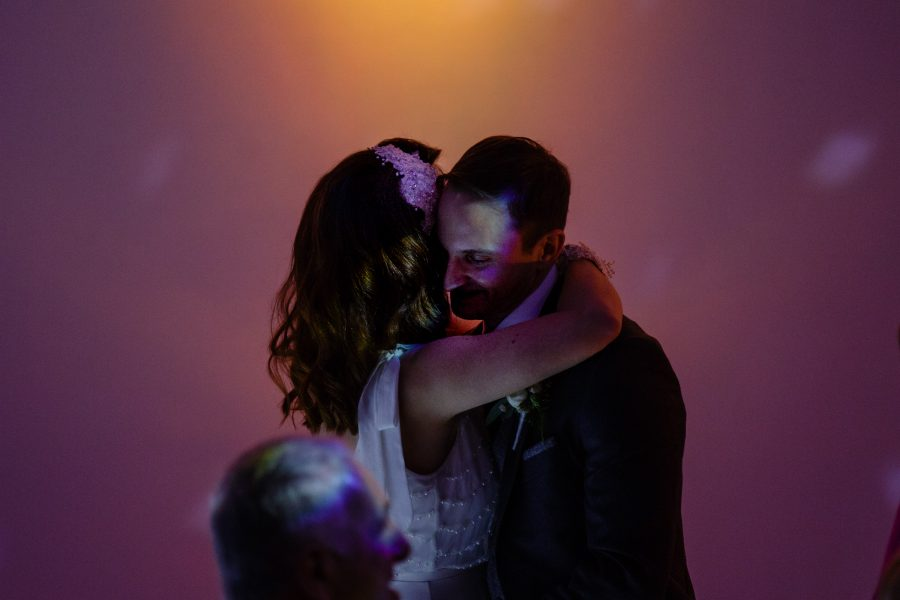 close up of first dance