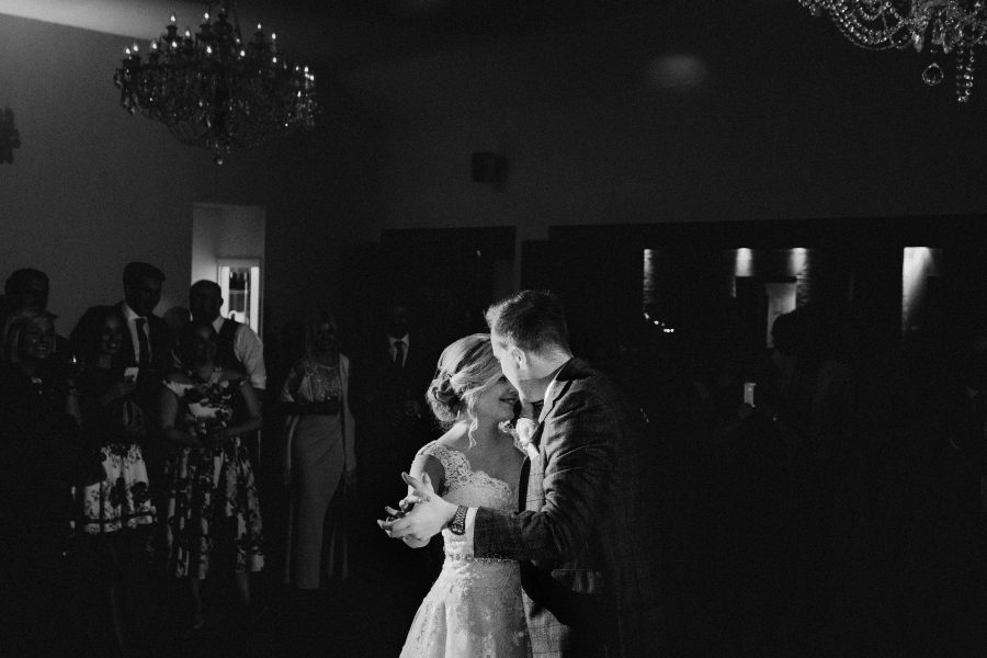 first dance at botleys mansion wedding