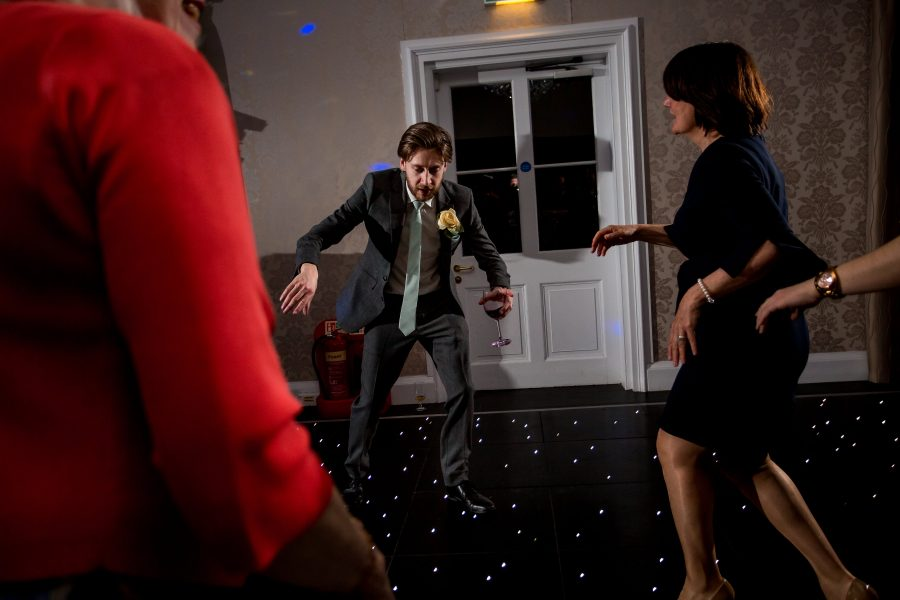 Drunk dancing at Botleys mansion wedding