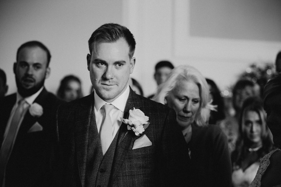 groom crying on seeing bride for first time