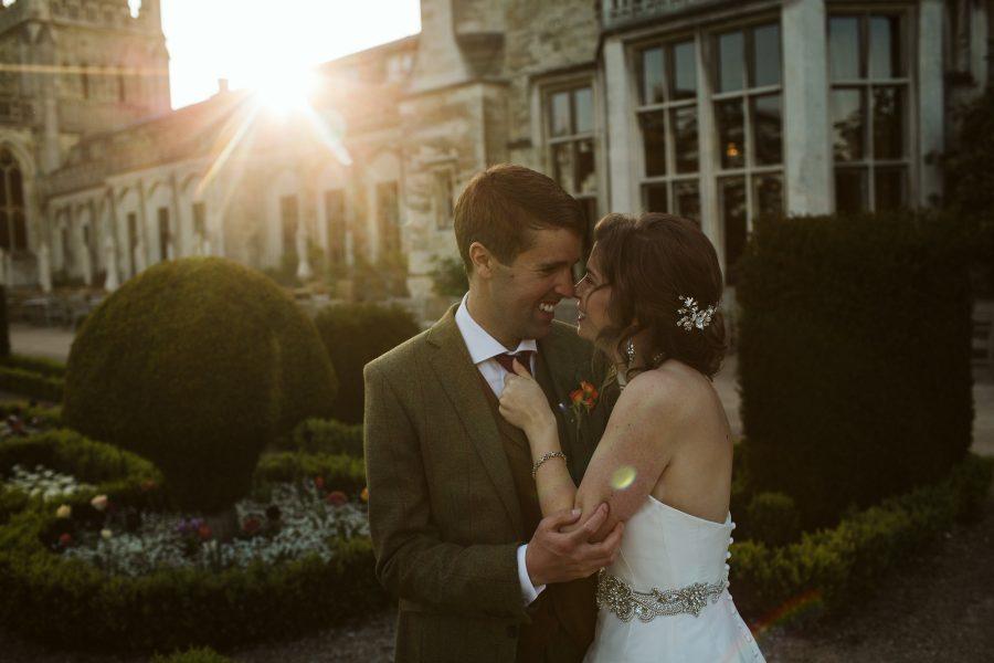 bridal portrait in fading light