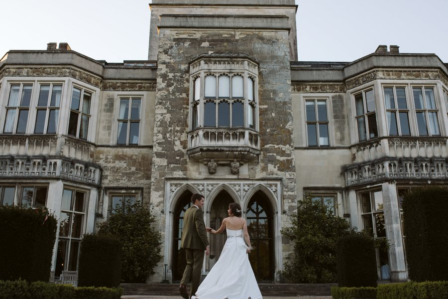 bride and groom portraits at Ashridge House