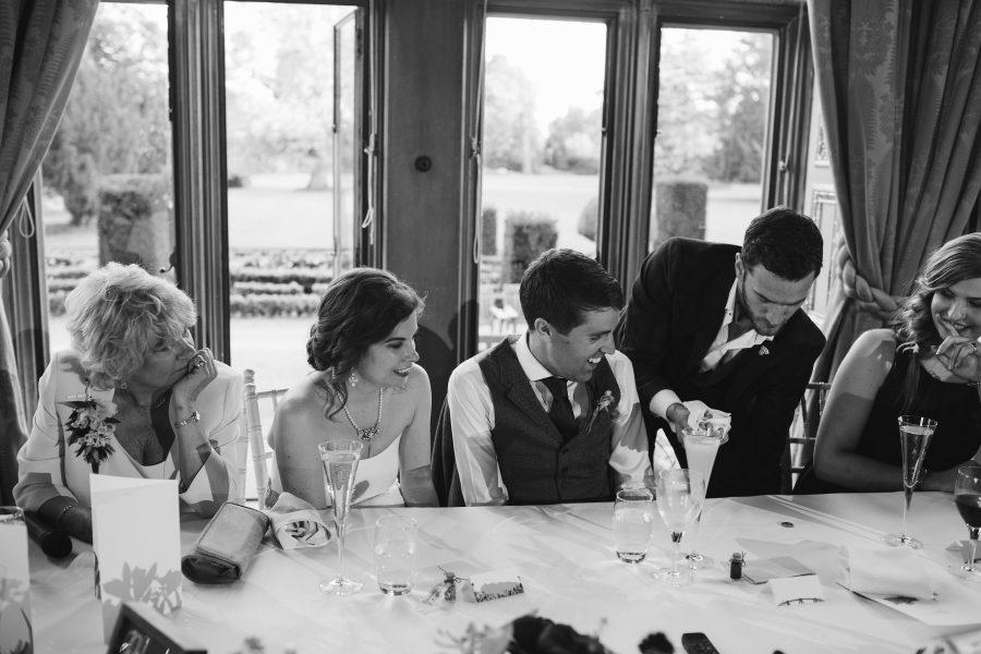 magician at wedding at Ashridge House