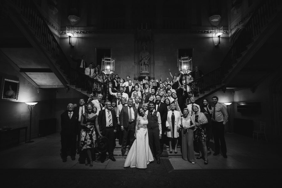 Wedding group photography at Ashridge House