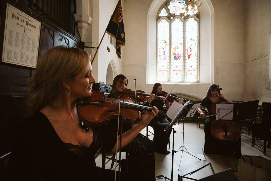 string quartet in church