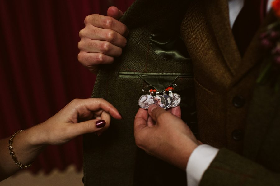 bridegrooms memory pins