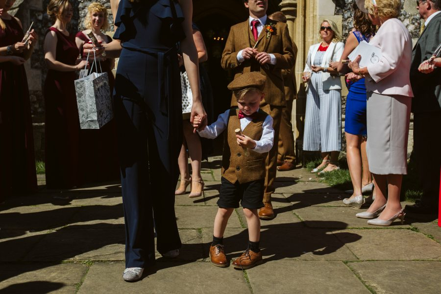 pageboy outside church