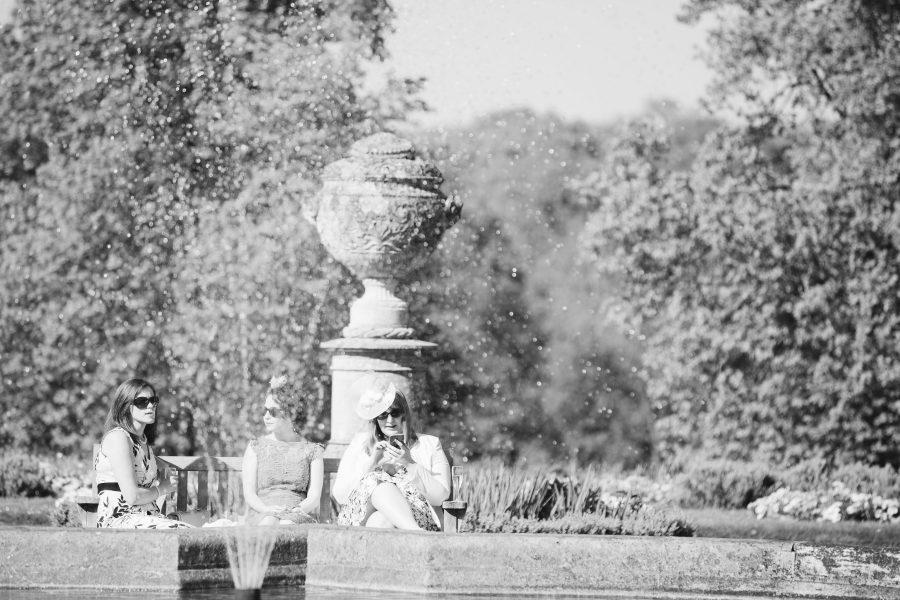 wedding guests at Ashridge House