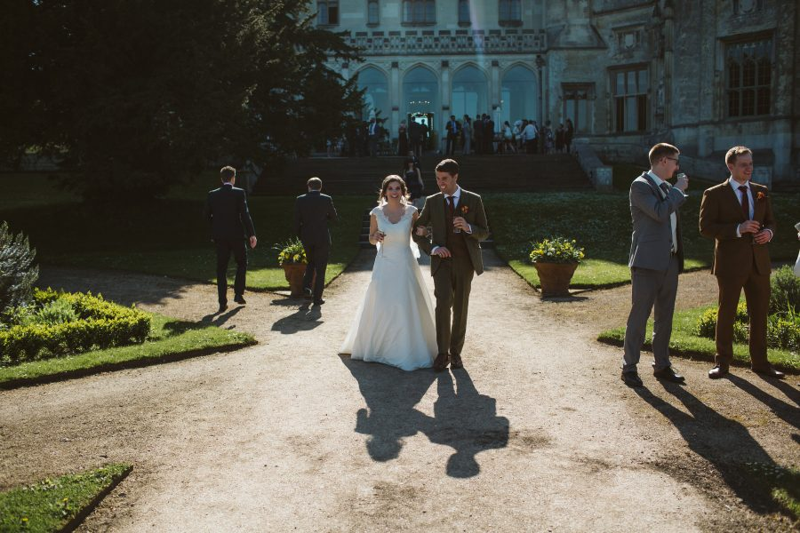 Bride and groom at Ashridge House