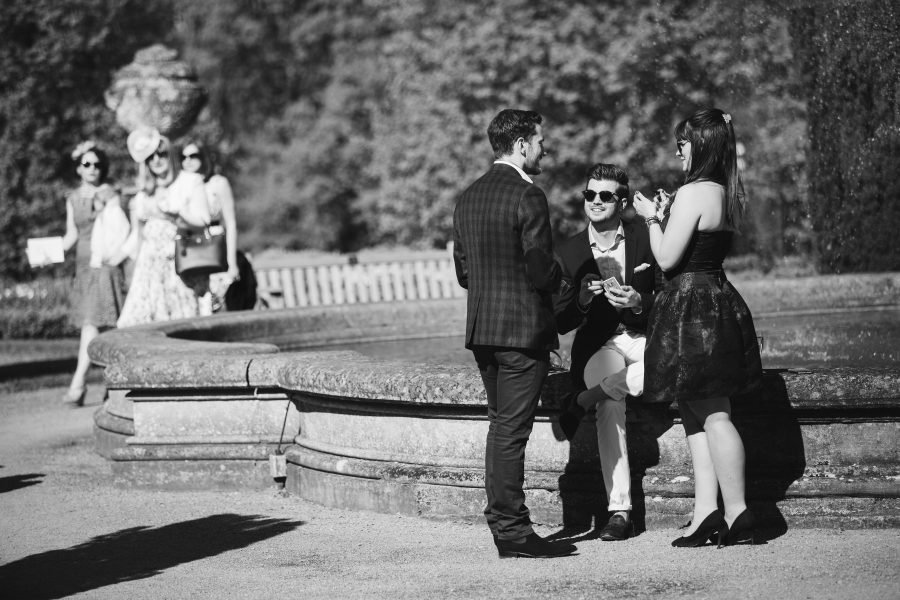 Wedding guests at Ashridge House