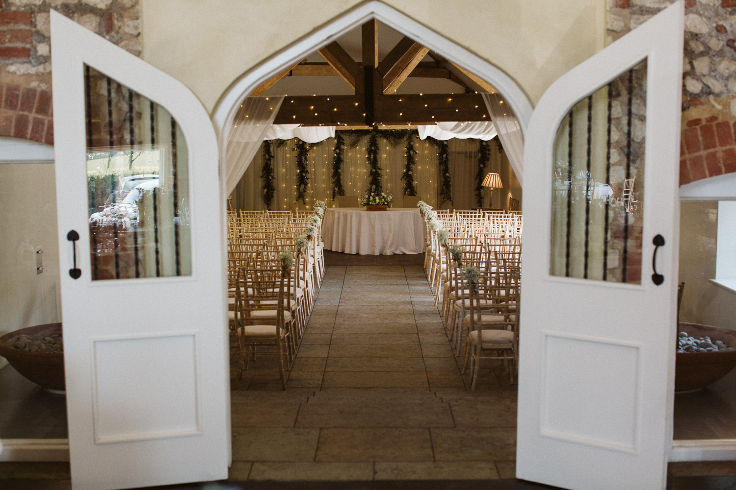 wide angle photo of the ceremony room