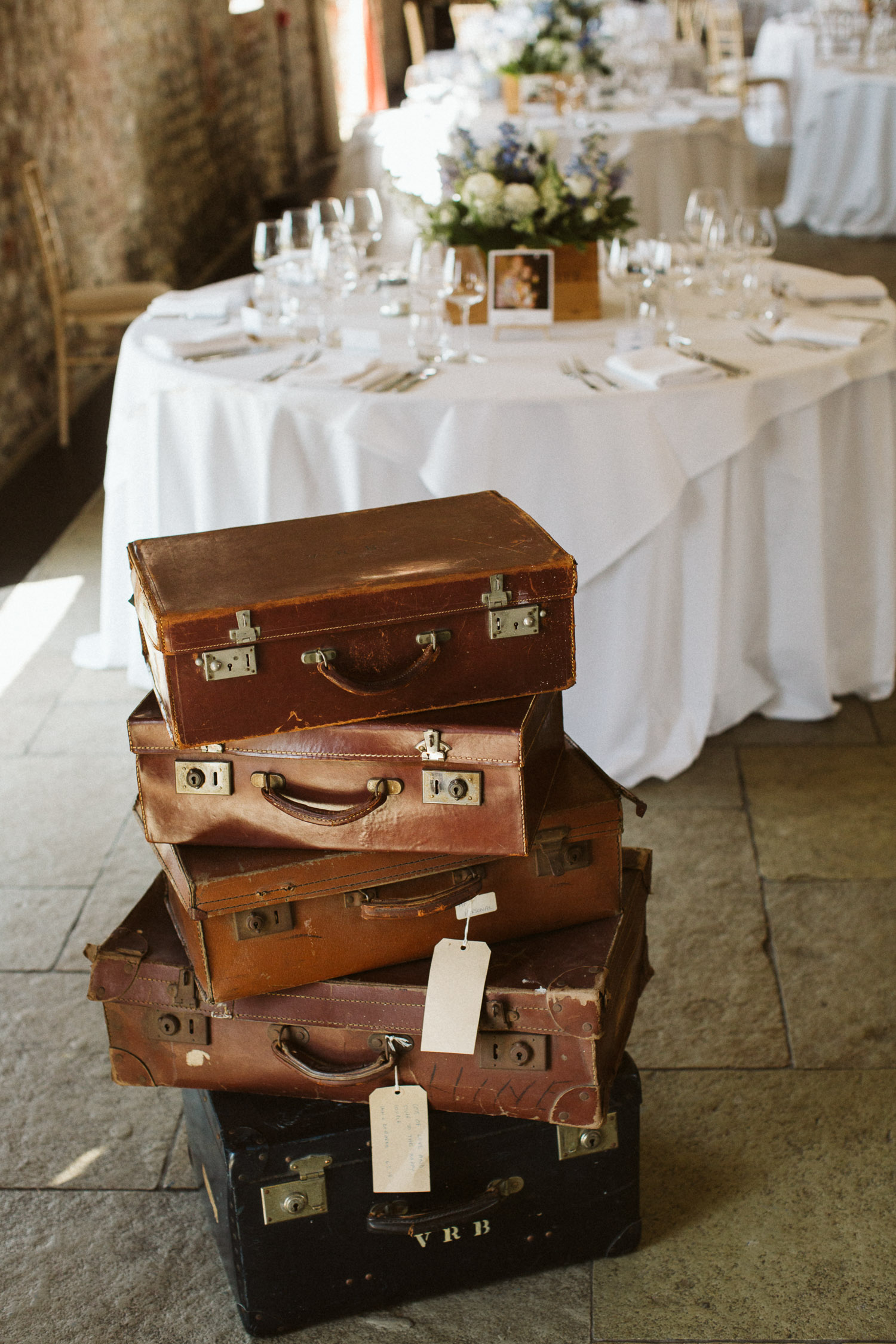 stacked suitcases or a drinks table?