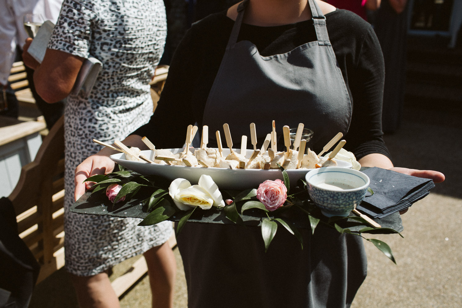 close-up shot of canapés