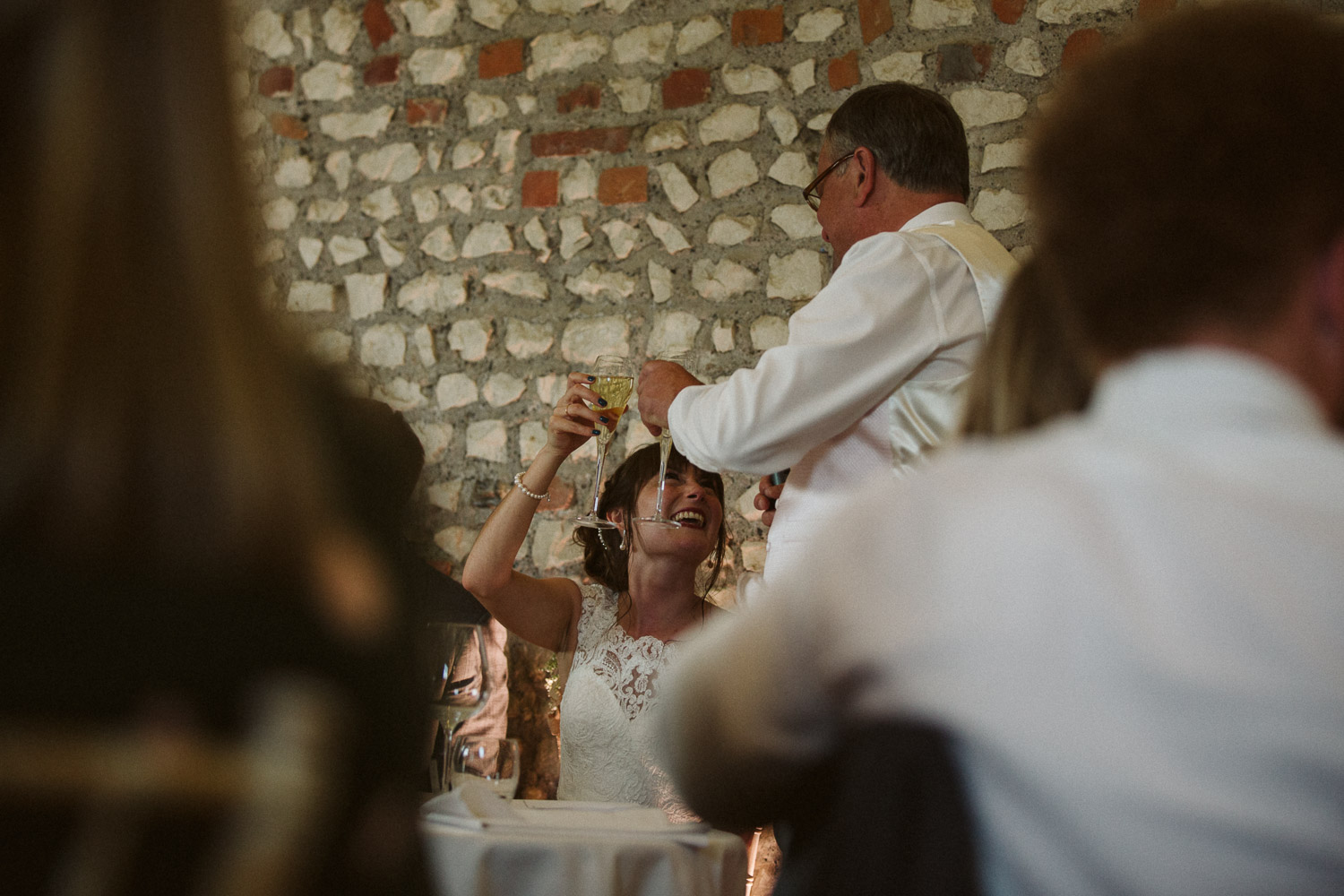 the last cheers between the bride and her father