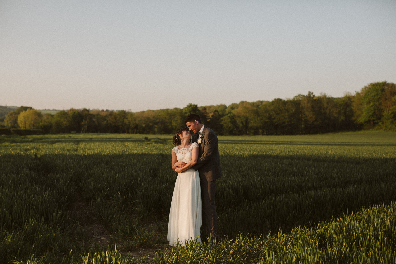 the couple in the field together