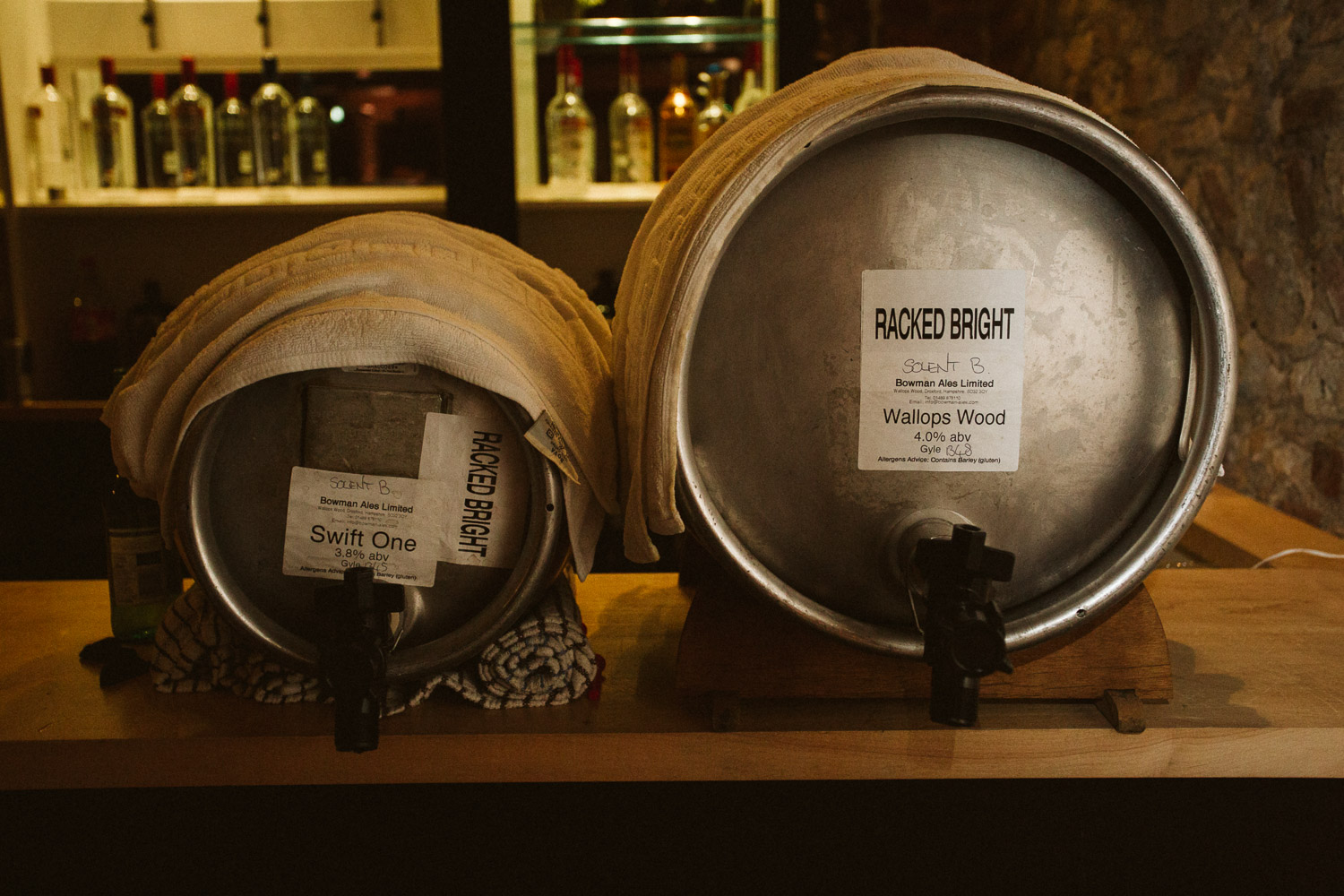 photo of the beer kegs