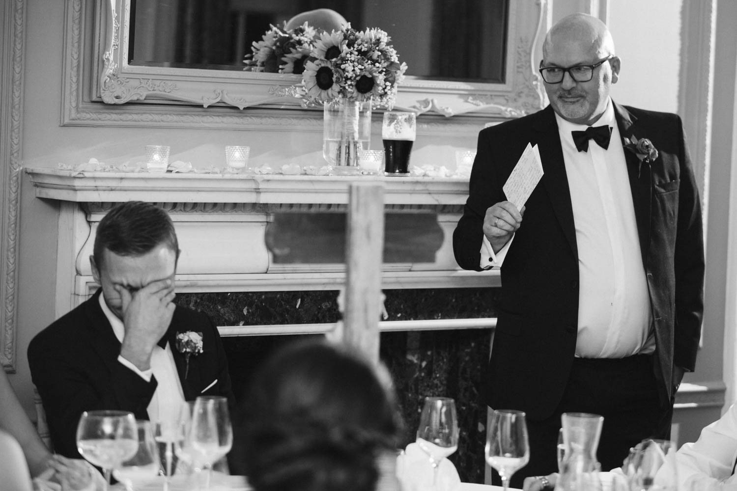 an embarrassing speech from the father of the bride