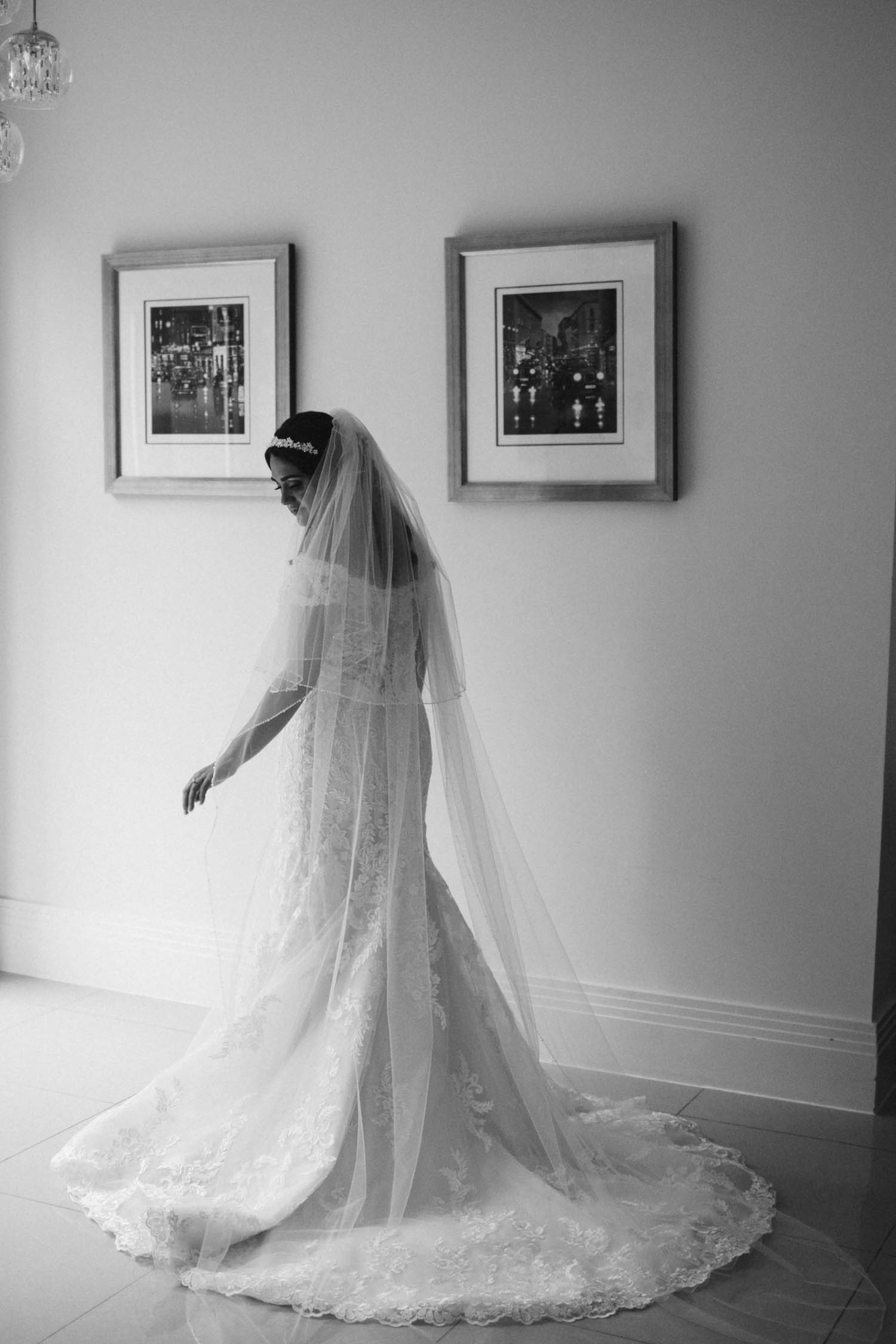 bride full length portrait