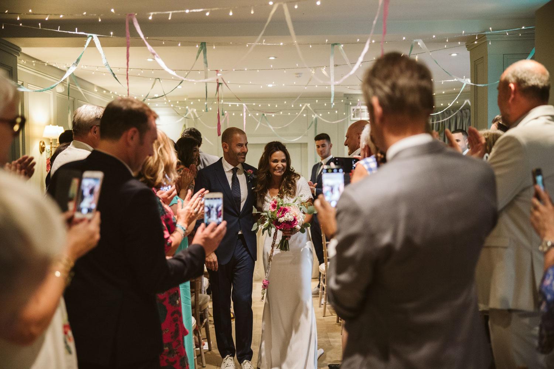 Couple's wedding recession