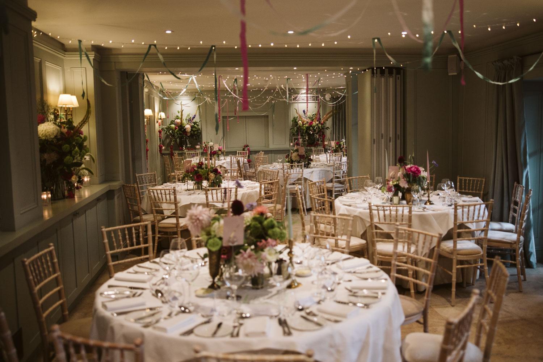 Bingham Riverhouse wedding breakfast room