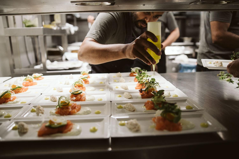 Food being prepared at Bingham Riverhouse