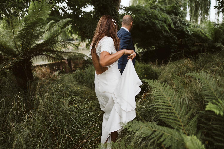Wedding portrait in Bingham Richmond gardens