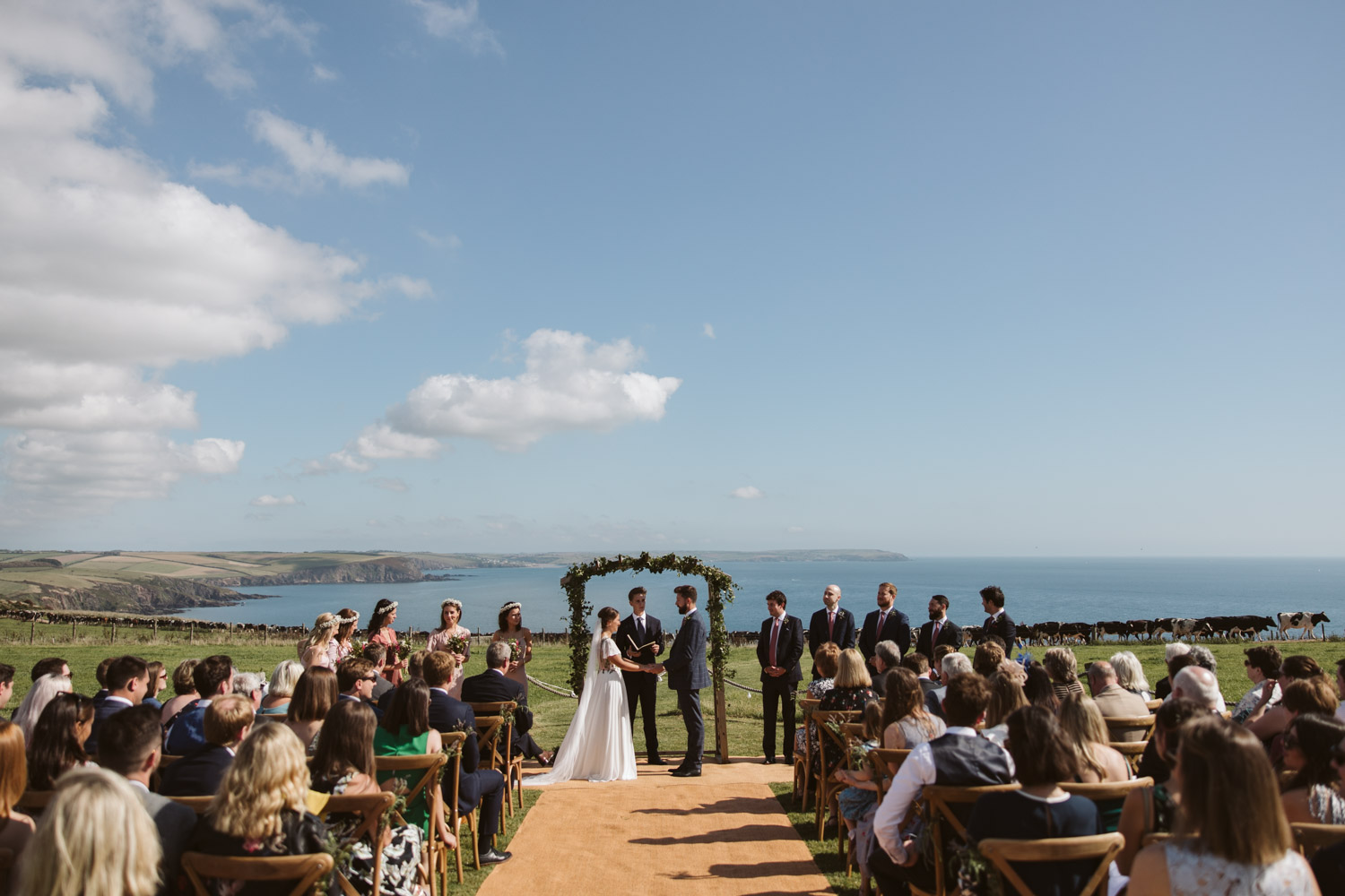 stunning view during the ceremony
