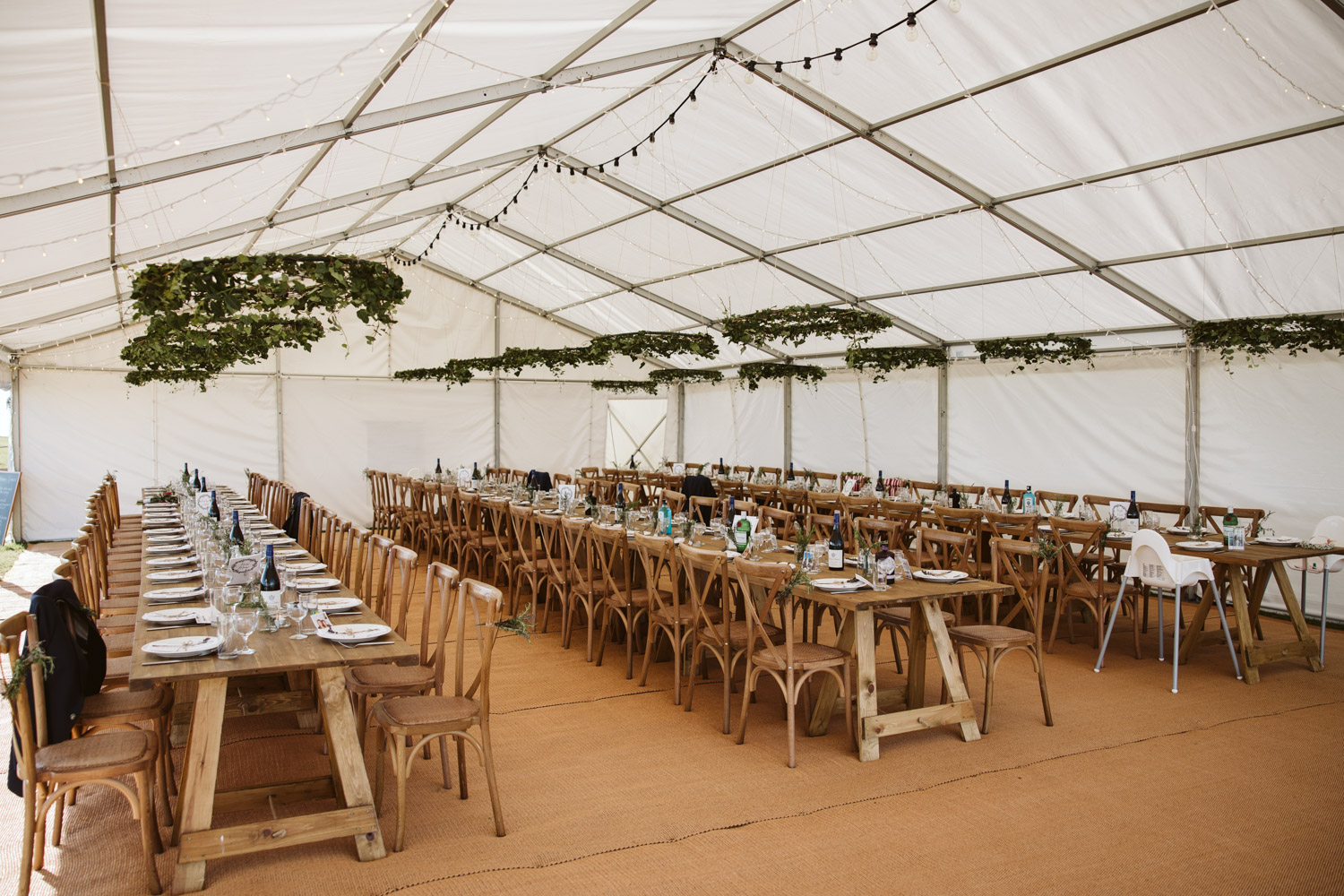 the decorated clifftop marquee