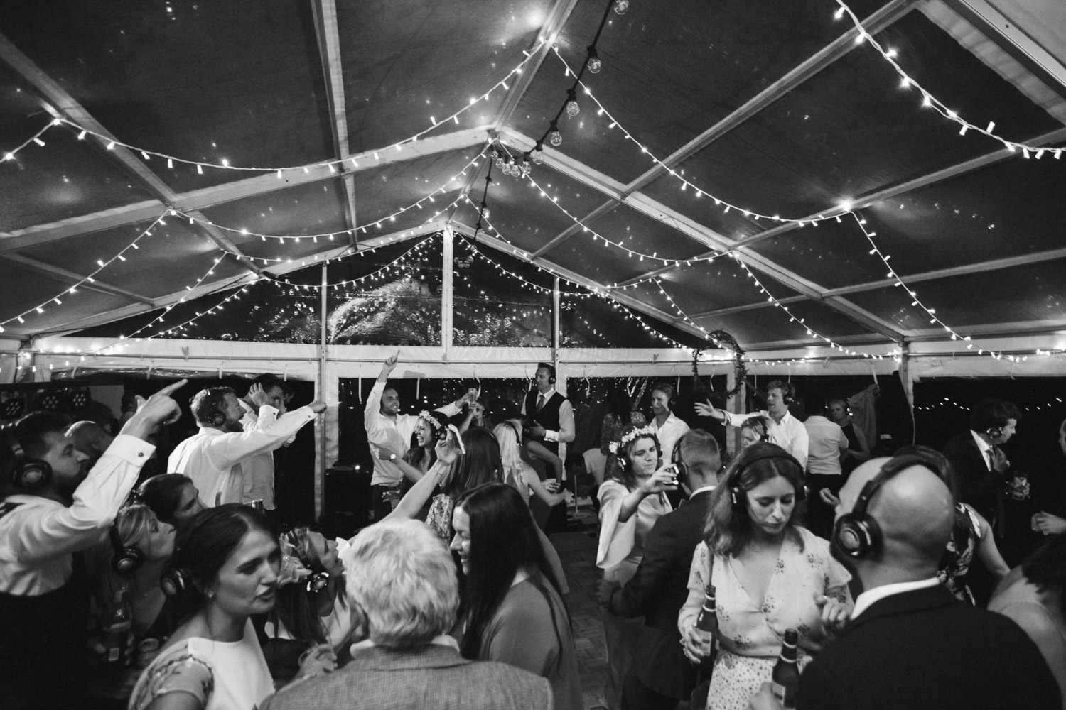 a wide angle photo of the dance floor