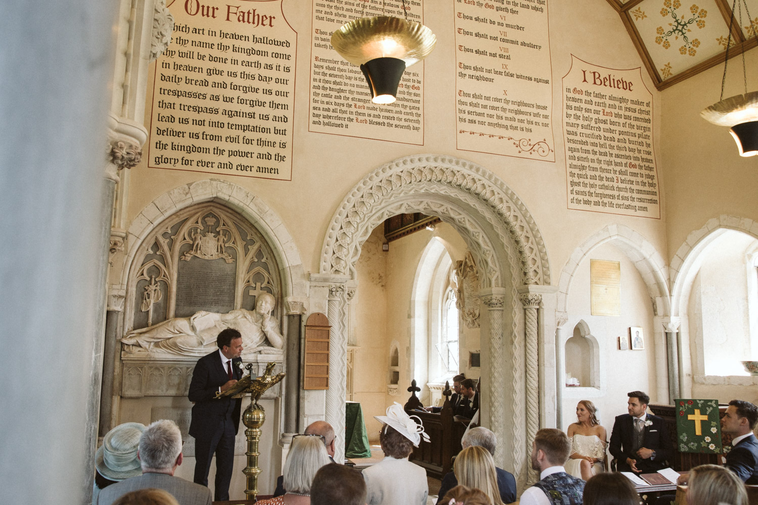 the ceremony at st Nicholas Church