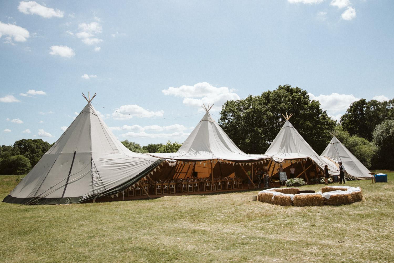the tipi tent at the fiesta fields hidden valley